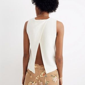 Madewell Texture and Thread Split-Back Shell Top